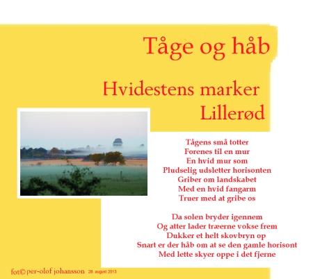 Tåge og håb - et digt med billeder